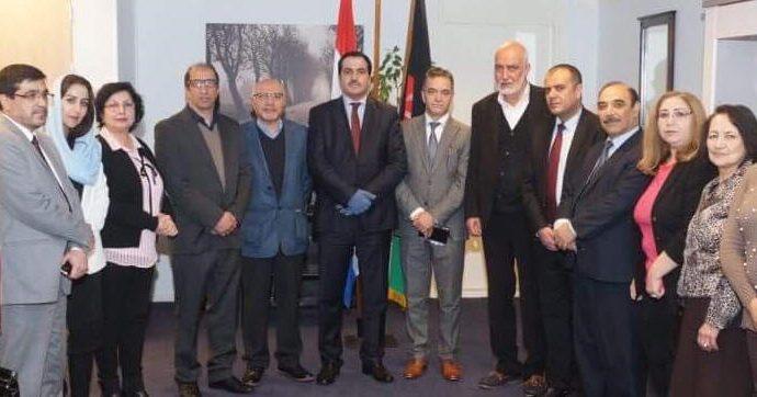 ملاقات تعارفی و گسترش همکاری های متقابلاً مفيد ميان اتحاديهء انجمنهای افغانها و سفارت جمهوری اسلامی افغانستان در هالند!